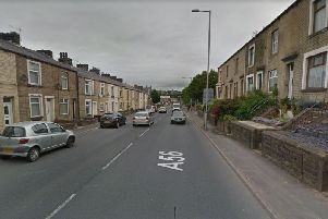 Burnley Road, Colne where a man died in a house fire.