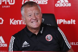 Chris Wilder manager of Sheffield United talks during the press conference ahead of Bournemouth (Picture: Simon Bellis/Sportimage)