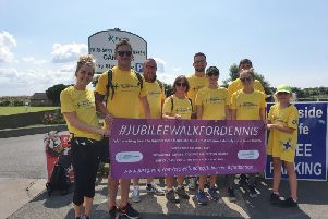 His family, have now completed a 32-mile walk to raise money for the emergency services and the critical care team at Royal Preston Hospital