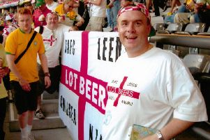 Glynn Davies pictured at the England v Sweden group game at the 2o06 World Cup in Cologne, Germany.