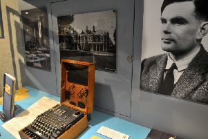 The computer scientist, Alan Turing, posed the eternal question: Can humans think?'Picture: Gary Longbottom