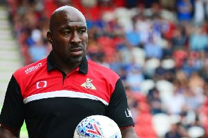 Darren Moore: Still awaiting his first win as Doncaster manager (Picture: Marie Caley)