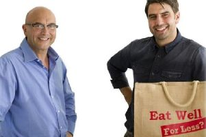 Greg Wallace with his co-host Chris Bavin.
