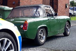 The recovered MG Midget car (Photo: WYP)
