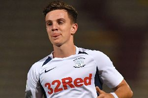 Preston midfielder Josh Harrop in action against Bradford in midweek