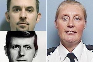 (Clockwise from top left): PC Ian Broadhurst, PC Sharon Beshenivsky and Sergeant John Speed