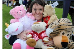 Cassandra Kilbride from the RSPCA running the tombola at Bramley Carnival. Picture Tony Johnson.