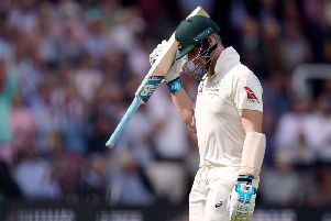 Ruled out: Australia's Steve Smith, leaving the pitch after being dismissed during day four of the Ashes Test at Lord's.