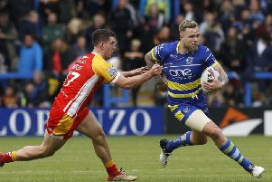 Blake Austin in action here against the Catalans Dragons