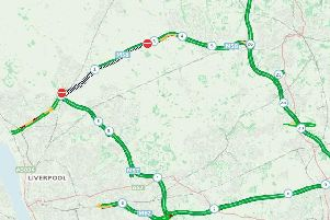 The M58 remains closed in both directions this morning after a crash involving a HGV and a car near junction 3 and the M57