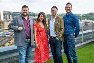 left to right: Dan Price, Riana Gatfield, Tim Mercer, Michael Heverin'Dan, Michael  and Raina are all co-founders of SupplyWell. Tim Mercer is CEO of Vapour Cloud.