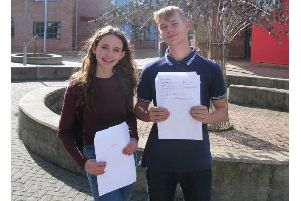 Cherry March and Alfie Cull were placed in the top two percent of students nationally.