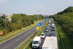 The crash on Stanningley bypass