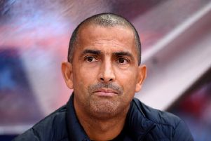 NOTTINGHAM, ENGLAND - JULY 19: Sabri Lamouchi, Manager of Nottingham Forest looks on during the Pre-Season Friendly match between Nottingham Forest and Crystal Palace at City Ground on July 19, 2019 in Nottingham, England. (Photo by Laurence Griffiths/Getty Images)