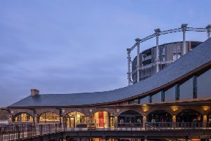 Coal Drops Yard at night, where ravers gathered and, it is rumoured, ladies of the night, once roamed. Picture by Luke Hayes.