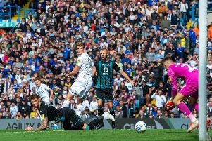 ONE THAT GOT AWAY: Leeds United striker Patrick Bamford looks on as Swansea City survive another Whites chance in Saturday's 1-0 loss at Elland Road. Picture by Bruce Rollinson.