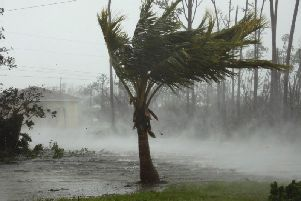 A road is flooded during the passing of Hurricane Dorian in Freeport, Grand Bahama, Bahamas