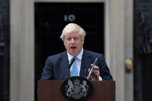 Boris Johnson delivered a statement in Downing Street on Monday night.