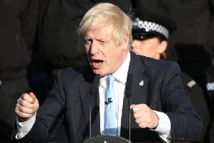 Prime Minister Boris Johnson said he would 'rather be dead in a ditch than go back to Brussels' to ask the EU for an extension to Brexit negotiations, during his visit to Yorkshire today.