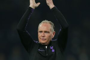 Tottenham Hotspur Legends' English player Paul Gascoigne applauds the crowd at the end of the Legends football match between Tottenham Hotspur Legends and Inter Forever (Picture: DANIEL LEAL-OLIVAS/AFP/Getty Images)