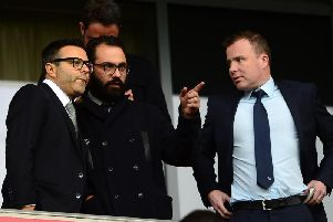 Owner Andrea Radrizzani, director of football Victor Orta and managing director Angus Kinnear (Pic: Getty)