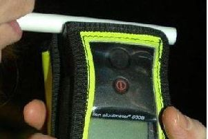 A drink-driving breathalyser.