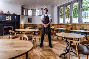 Tommy Banks inside Roots, the York restaurant that is a new entry in the Good Food Guide 2020