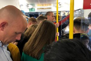 Commuter chaos on the York-Harrogate-Leeds line on Tuesday morning.