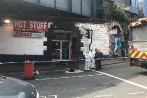Crime scene under the Dark Arches in Leeds city centre after man was critically injured in alleged attack on August 12.