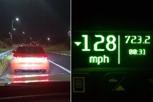 The speeding Audi driver on the M62(Picture WYP_PCWILLIS)