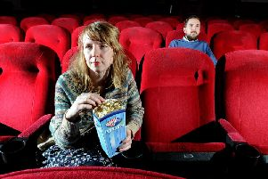 Wendy Cook, General Manager, and Ollie Jenkins at Hyde Park Picture House. Picture: James Hardisty.