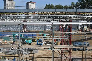 The construction site for the HS2 high speed rail scheme in Euston, London. . Photo: Victoria Jones/PA Wire