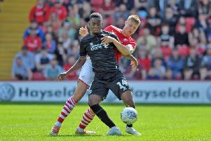 Mads Anderson in action for Barnsley this season