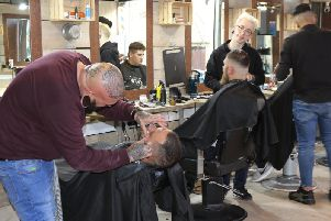 Less than Zero barbers in Chesterfield.