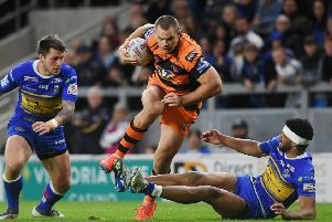 AIMING HIGH: Castleford Tigers' Cheyse Blair. 'Picture: Jonathan Gawthorpe