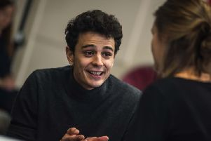 Pedro Leandro in rehearsal for A View from the Bridge.