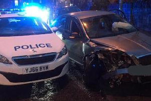 One man was arrested after a police pursuit ended in a crash involving a family car. Picture: West Yorkshire Police/Bradford West Neighbourhood Policing Team