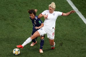 England's Millie Bright in action during the FIFA Women's World Cup, Group D match at the Stade de Nice. (Picture: PA)