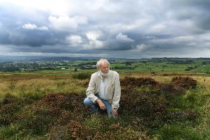 Dr Keith Boughey, who has managed to date the remains of a Bronze Age man unearthed on Baildon Moor.' Picture: Jonathan Gawthorpe