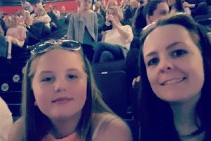 Hollie Booth is pictured with her aunt Kelly Brewster, who was killed in the Manchester Arena bombing in 2017.