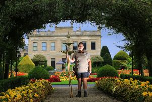 Georgina Yates in the grounds of Brodsworth Hall