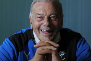 "Former England international umpire Harold Dennis ""Dickie"" Bird. Picture by Simon Hulme."