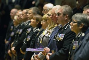 The Prince of Wales joined about 1,500 officers, relatives and officials for the National Police Memorial Day (NPMD) service.