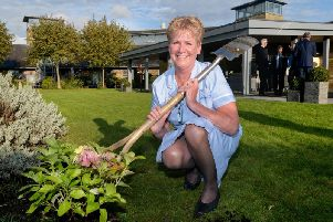 During the unveiling of the revamp, a special hydrangea was planted in the outpatient unit garden by Marie Curie nurse Pauline Bates.