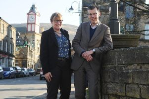 Helen Noble, chief executive of Pennine Prospects, with writer Julian Glover, who led the review into Englands national parks and areas of outstanding natural beauty (AONB). Picture by Tony Johnson.