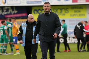 Picture Jez Tighe/AHPIX LTD, Football, Sky Bet League Two, Mansfield Town v Plymouth Argyle, One Call Stadium, Mansfield, UK, 28/09/19, K.O 3pm'''Mansfield Town Manager John Dempster after the defeat against Plymouth'''Howard Roe>07973739229