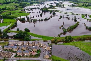 Flooding at Cononley, Yorkshire taken Monday, September 30 2019.