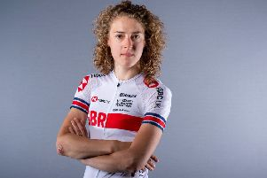 Lizzy Banks: Her world championship road race was blighted by mechanical failures. (Picture: SWpix.com)