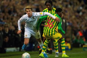 Patrick Bamford gets past Nathan Ferguson' on Tuesday night. Picture: Bruce Rollinson