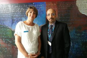 Clare Pye and Mostafa Metwally.